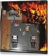 Electrical Fire In A Household Fuse Box Canvas Print / Canvas Art by on fire fox box, fire starter box, fire pump box, fire tube box, fire red box, fire hose box, fire indicator box, fire cable box,