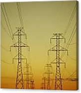 Electricity Pylons Canvas Print