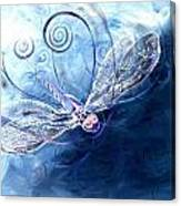 Electrified Dragonfly Canvas Print