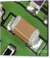 Electronics Board With Lead Solder Canvas Print