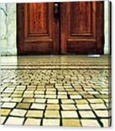 Elegant Door And Mosaic Floor Canvas Print