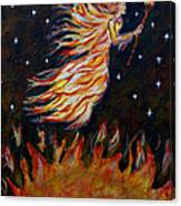 Elemental Earth Angel Of Fire Canvas Print