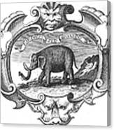 Elephant, 17th Cent Canvas Print