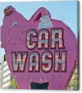 Elephant Car Wash Canvas Print