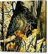 Elephant Eating Blossems Canvas Print