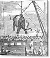 Elephant Hoist, 1858 Canvas Print
