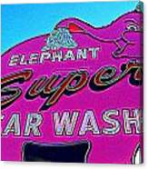 Elephant Super Car Wash Boost Canvas Print