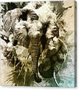 Elephants Gone Wild Canvas Print