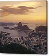 Elevated View Of Rio De Janeiro Canvas Print