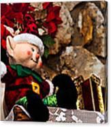 Elf On Shelf Canvas Print