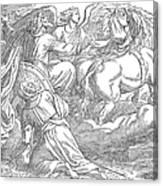 Elijahs Ascent To Heaven Canvas Print