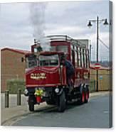 Elizabeth - Steam Bus At Whitby Canvas Print
