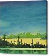 Elk Island Sundown 2 Canvas Print