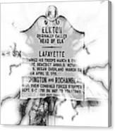 Elkton Head Of Elk  Canvas Print