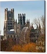 Ely Cathedral Scenic Canvas Print