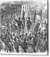 Emancipation, 1863 Canvas Print