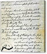Emancipation Proc., P. 4 Canvas Print
