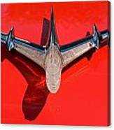 Emblem On Red 2 Canvas Print