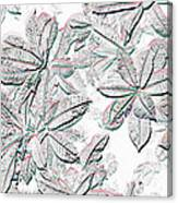 Embossed Crotons Canvas Print