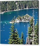 Emerald Bay Vertical Canvas Print
