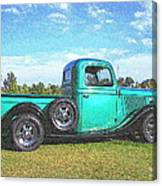 Emerald Green 1936 Ford Pickup Canvas Print