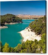Emerald Lake. El Chorro. Spain Canvas Print