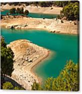 Emerald Lake I. El Chorro. Spain Canvas Print