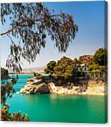 Emerald Lake With Duke House. El Chorro. Spain Canvas Print