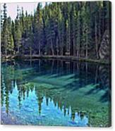 Emerald Mountain Pond Canvas Print