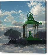 Emerald Throne Canvas Print