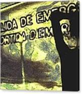 Emergency Exit - Arte Silueta Tren Canvas Print