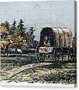 Emigrants To Ohio, 1805 Canvas Print