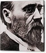 Emile Zola 1840-1902, French Novelist Canvas Print