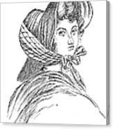 Emily Bront� (1818-1848) Canvas Print
