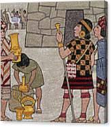 Emissaries Bring Tribute To Inca Canvas Print