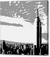 Empire State Building Bw3 Canvas Print