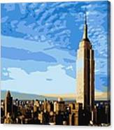 Empire State Building Color 16 Canvas Print