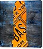 Empire State Building Nyc License Plate Art Canvas Print