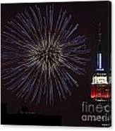 Empire State Fireworks Canvas Print