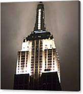 Empire State In The Fog Canvas Print