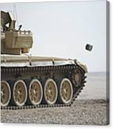 Empty Casings Eject From An Iraqi T-72 Canvas Print