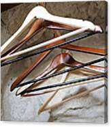 Empty Coat Hangers Canvas Print