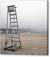 Empty Lifeguard Chair Canvas Print