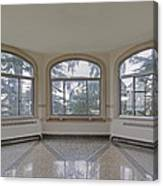 Empty Room In Turret With Windows Canvas Print
