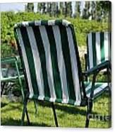 Empty Seats On Garden Lawn Canvas Print