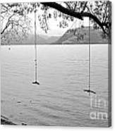 Empty Swings In The Rain Canvas Print