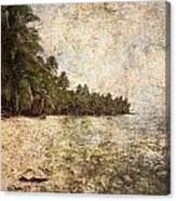 Empty Tropical Beach 2 Canvas Print