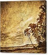 Empty Tropical Beach 3 Canvas Print