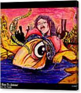 En El Bano De Soledad Canvas Print