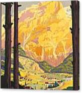 En Tarentaise - Vintage French Travel Canvas Print
